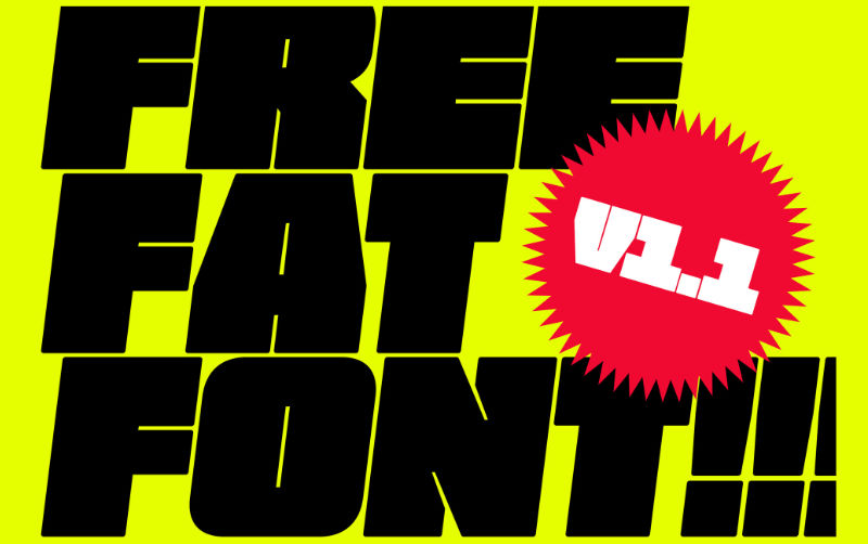 Free Fat Font